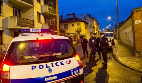Police surround a property during an operation to arrest 24-year-old Mohammed Merah, the man suspected of killing seven victims including three children in separate gun attacks in Toulouse, France. Photograph: Getty Images